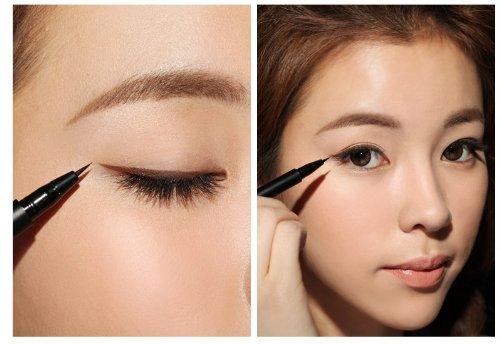 cara-penggunaan-eyeliner cewek-korea